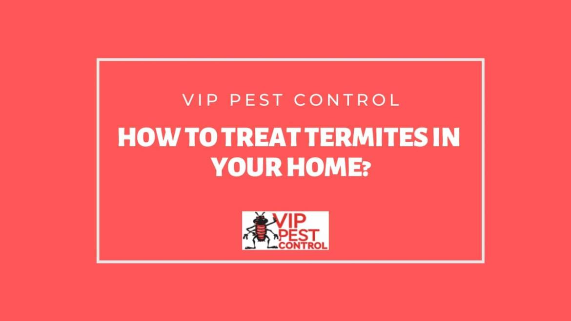 How To Treat Termites In Your Home?